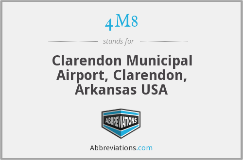 4M8 - Clarendon Municipal Airport, Clarendon, Arkansas USA