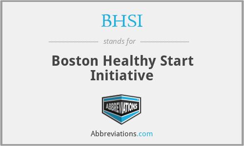 BHSI - Boston Healthy Start Initiative