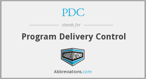 PDC - Program Delivery Control