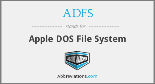 ADFS - Apple DOS File System