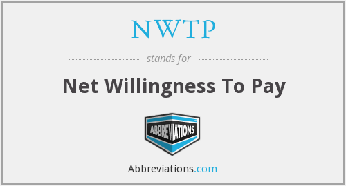 NWTP - Net Willingness To Pay