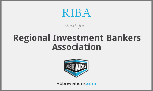 RIBA - Regional Investment Bankers Association