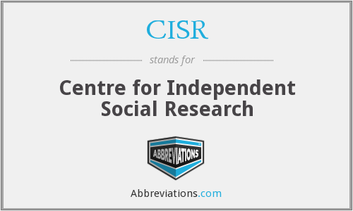 CISR - Centre for Independent Social Research