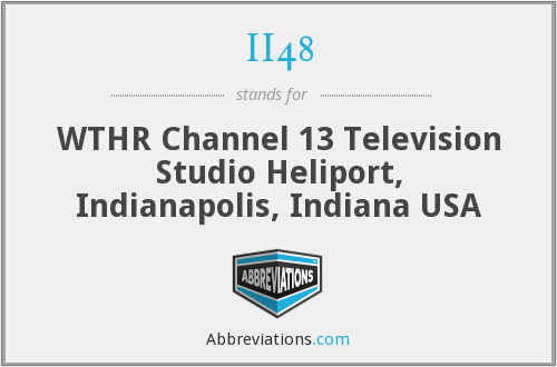 II48 - WTHR Channel 13 Television Studio Heliport, Indianapolis, Indiana USA