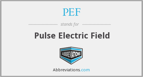 PEF - Pulse Electric Field