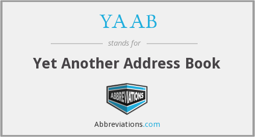 YAAB - Yet Another Address Book