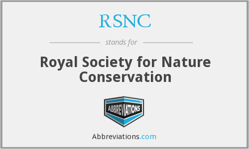 RSNC - Royal Society for Nature Conservation