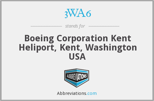 3WA6 - Boeing Corporation Kent Heliport, Kent, Washington USA