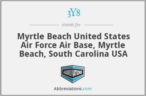 3Y8 - Myrtle Beach United States Air Force Air Base, Myrtle Beach, South Carolina USA