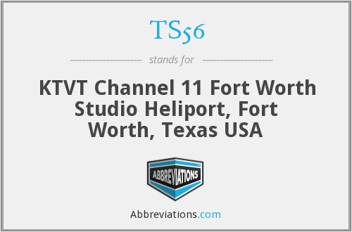 TS56 - KTVT Channel 11 Fort Worth Studio Heliport, Fort Worth, Texas USA