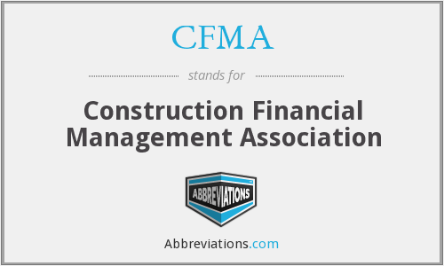 What does CFMA stand for?