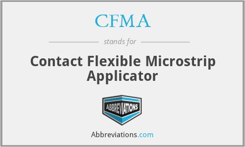 CFMA - Contact Flexible Microstrip Applicator