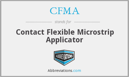 CFMA - Contact Flexible Microstrip Applicator