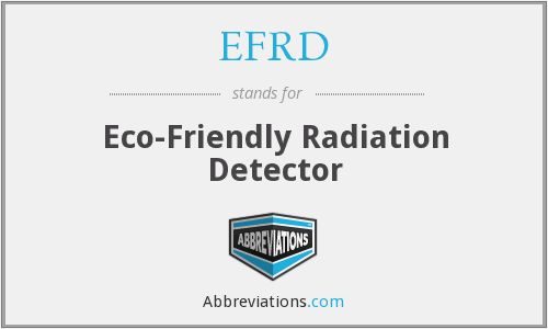 EFRD - Eco-Friendly Radiation Detector
