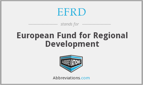 EFRD - European Fund for Regional Development