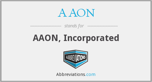 What does AAON stand for?