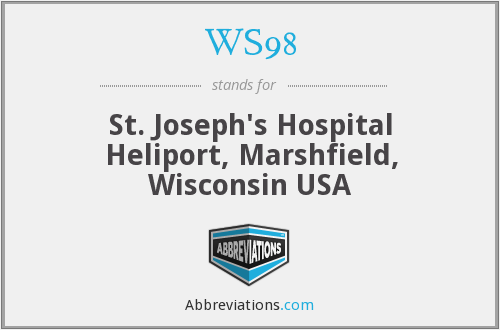 WS98 - St. Joseph's Hospital Heliport, Marshfield, Wisconsin USA