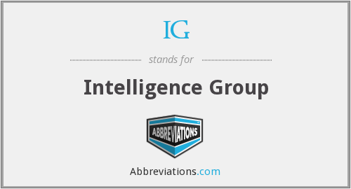IG - Intelligence Group