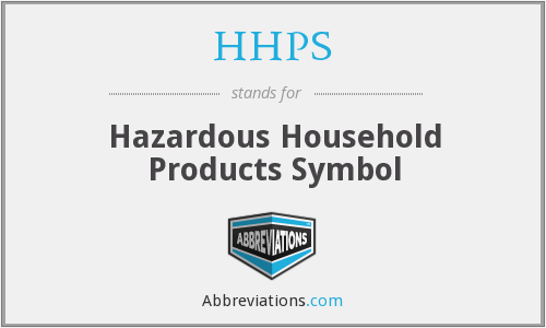 HHPS - Hazardous Household Products Symbol