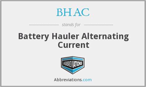 BHAC - Battery Hauler Alternating Current