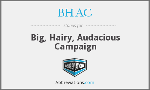 BHAC - Big, Hairy, Audacious Campaign