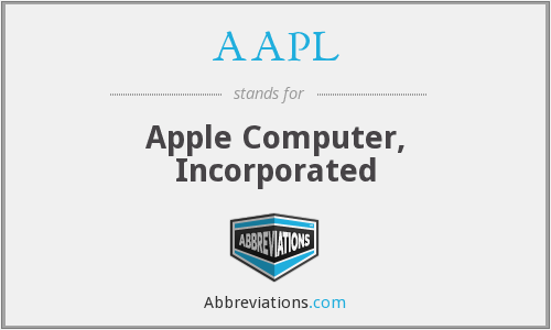 What does AAPL stand for?