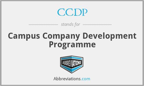CCDP - Campus Company Development Programme