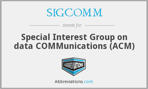 SIGCOMM - Special Interest Group on data COMMunications (ACM)