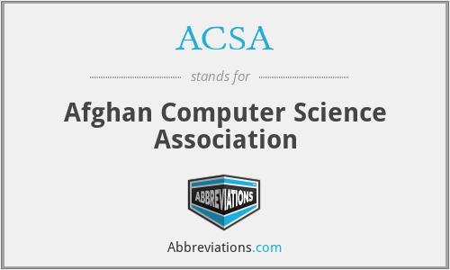 ACSA - Afghan Computer Science Association