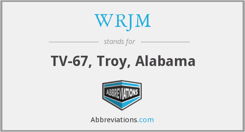 What does WRJM stand for?