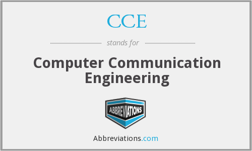 CCE - Computer Communication Engineering
