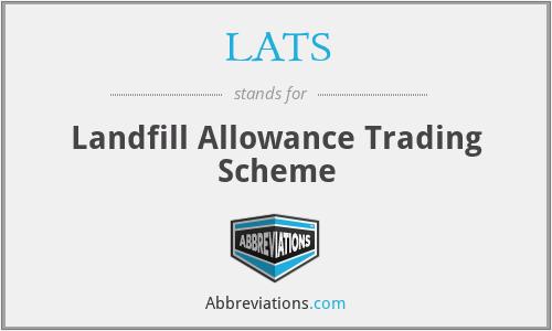 LATS - Landfill Allowance Trading Scheme
