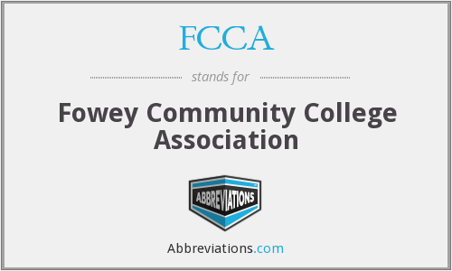 FCCA - Fowey Community College Association