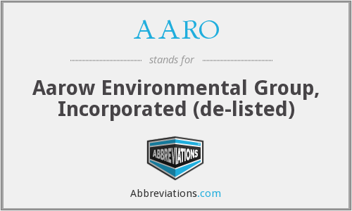 AARO - Aarow Environmental Group, Inc.