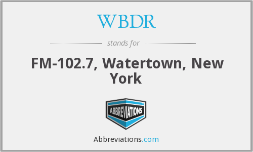 What does WBDR stand for?