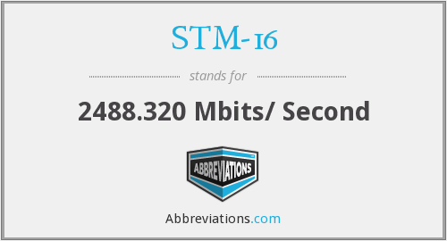 STM-16 - 2488.320 Mbits/ Second