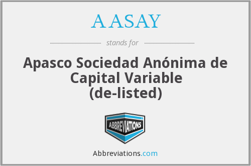What does AASAY stand for?