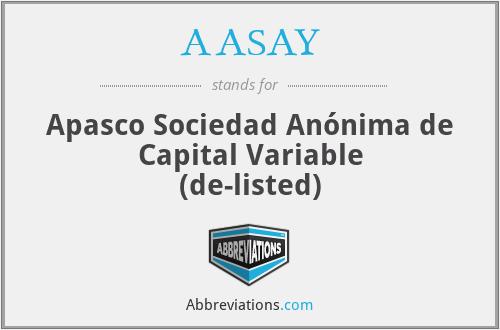 AASAY - Apasco S. A. de C. V.