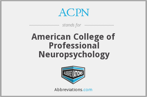 ACPN - American College of Professional Neuropsychology