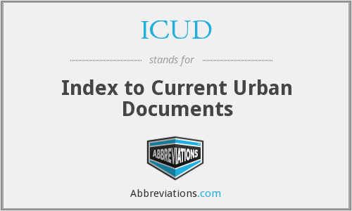 ICUD - Index to Current Urban Documents