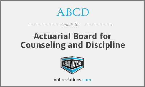 ABCD - Actuarial Board for Counseling and Discipline