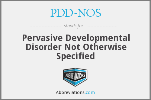 What does PDD-NOS stand for?