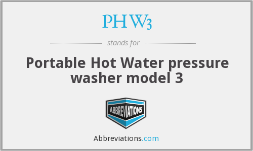 What does PHW3 stand for?