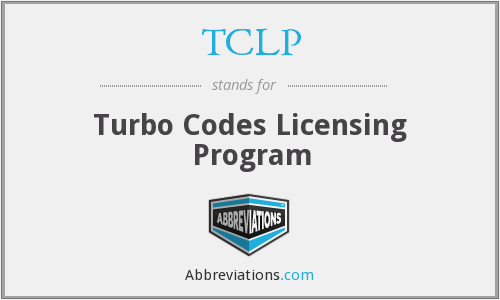 TCLP - Turbo Codes Licensing Program