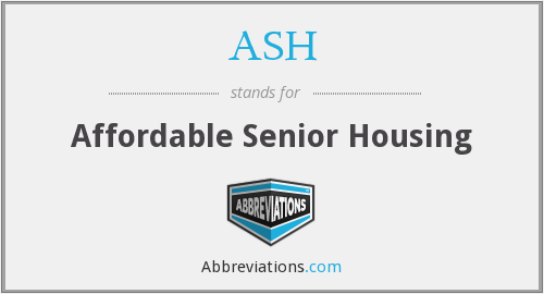 ASH - Affordable Senior Housing