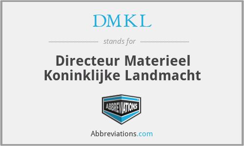 DMKL - Directeur Materieel Koninklijke Landmacht