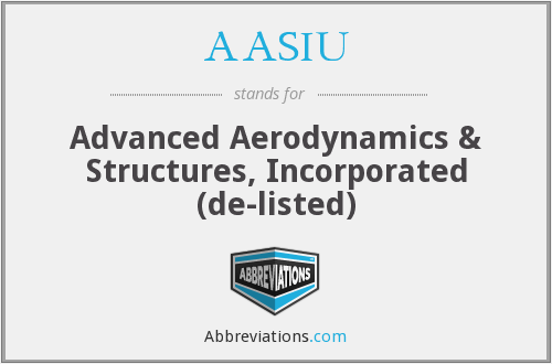 AASIU - Advanced Aerodynamics & Structures, Inc.