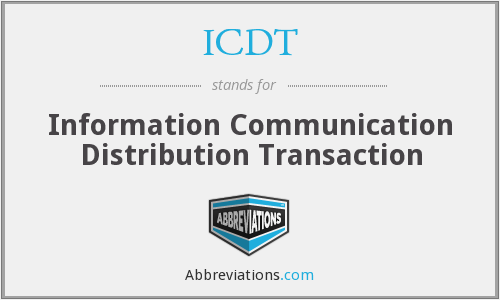 What does ICDT stand for?