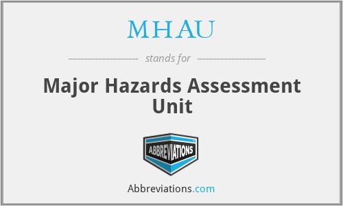 MHAU - Major Hazards Assessment Unit