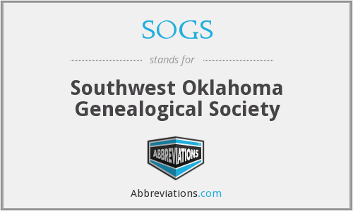 SOGS - Southwest Oklahoma Genealogical Society